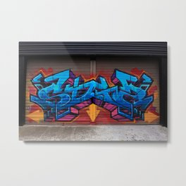Roller Door Graffiti Metal Print