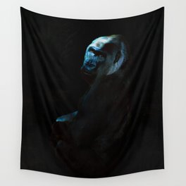 Humanity - Mountain Gorilla in Moonlight Wall Tapestry