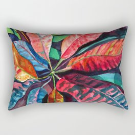 Colorful Tropical Leaves 2 Rectangular Pillow