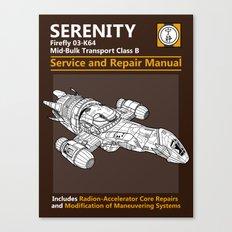 Serenity Service and Repair Manual Canvas Print