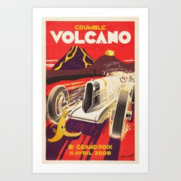 Grumble Volcano Grand Prix Art Print