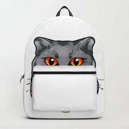 Chartreux Cat Kitty Cats Love Cartoon Gift Face Backpack