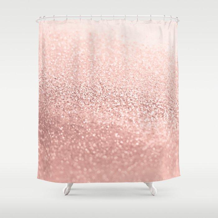 ROSEGOLD Shower Curtain By Monikastrigel