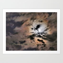 the storm after the moon Art Print