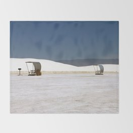 Picknick At White Sands Throw Blanket
