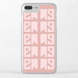 Then millennial pink graphic print Clear iPhone Case