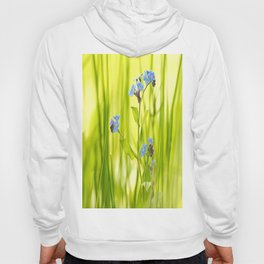 Lovely Morning Meadow Forget Me Not #decor #society6 Hoody