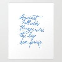 Against All Odds in Blue Art Print