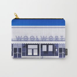 F.W. Woolworth All White Carry-All Pouch