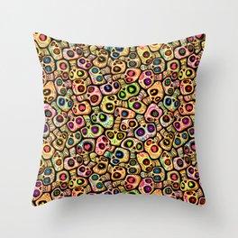 Calaveras del Día de los Muertos. Throw Pillow