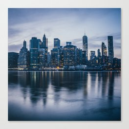 Manhattan after the sunset Canvas Print