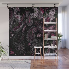 Pink Roses in Anzures 2 Paisley 2 Wall Mural