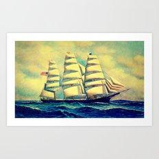 Ship at Sea Art Print