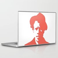 tom waits Laptop & iPad Skins featuring Tom Waits in Red by JennFolds5 * Jennifer Delamar-Goss