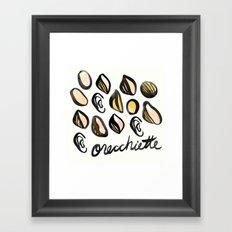 Orecchiete | 100 Days of Cookbook Spots Framed Art Print