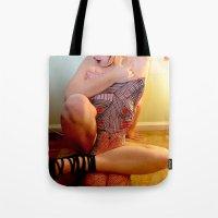 jenny liz rome Tote Bags featuring Liz by Maison Fioravante - Fine Artist