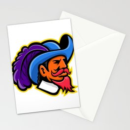 Cavalier Head Mascot Stationery Cards