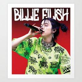 billie live tour 2021 Art Print