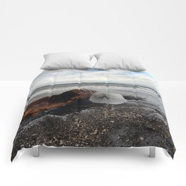 Driftwood And Ice in Spring Comforters