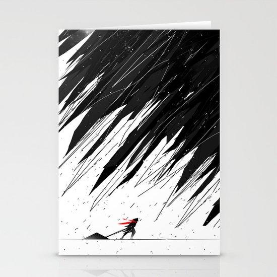 Geometric Storm Stationery Cards