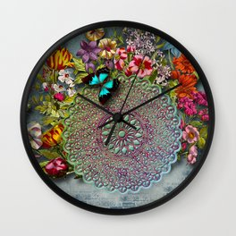 Mandala Flower Wall Clock