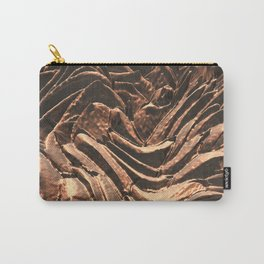 Macro Copper Abstract Carry-All Pouch
