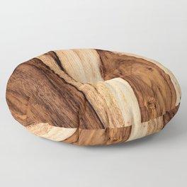 Sheesham Wood Grain Texture, Close Up Floor Pillow