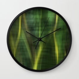 Green Palm Leaves Impression Wall Clock