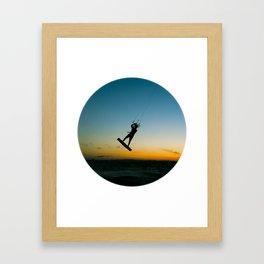 """""""LAUNCH""""  kitesurf . kite . surf Framed Art Print"""