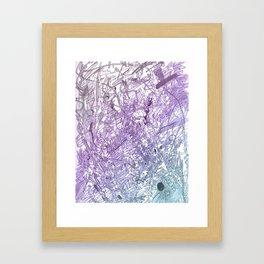 Marker Scratch Framed Art Print