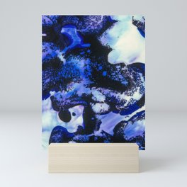 Point of View Abstract Water Blue Purple Art Mini Art Print