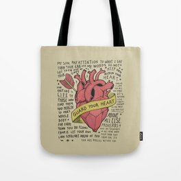 Guard Your Heart Tote Bag
