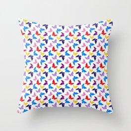 Colorful Butterflies Throw Pillow