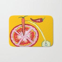 Kitchen Vegetable Art Bath Mat