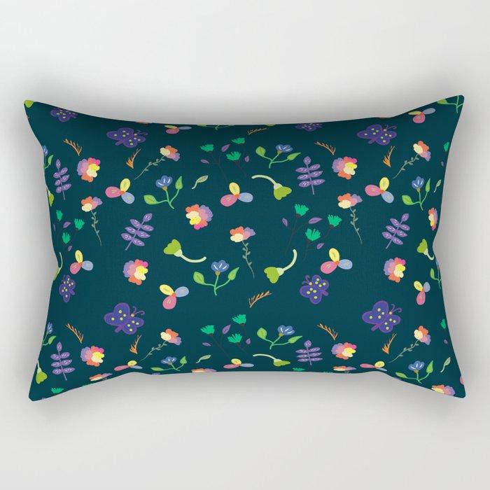 Spring Floral Pattern II Rectangular Pillow