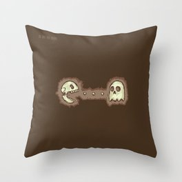 Dead Pac-Man Throw Pillow