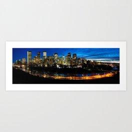 City of Calgary Festive Panorama Art Print