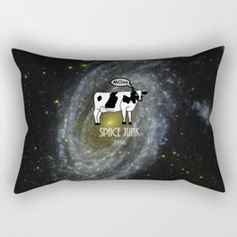 A cow become Space Junk at the Universe Rectangular Pillow
