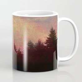 Repose, Abstract Landscape Trees Sky Coffee Mug