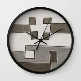 Protoglifo 10 Greyish approaching Wall Clock