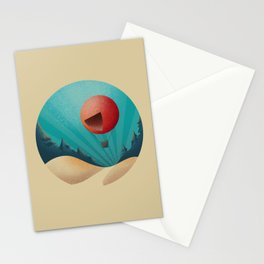 World in a Circle : Escape Stationery Cards