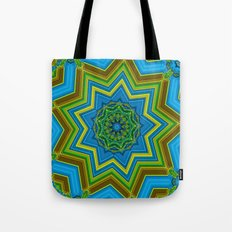 Lovely Healing Mandalas in Brilliant Colors: Blue, Yellow, Gold, and Green Tote Bag