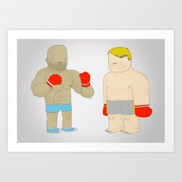 Two Boxers Art Print
