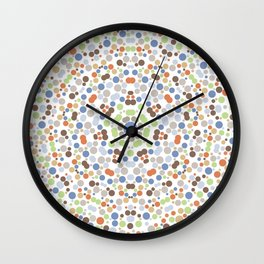 Colorful Abstract Pretty Floral Polka Dot Pattern Wall Clock