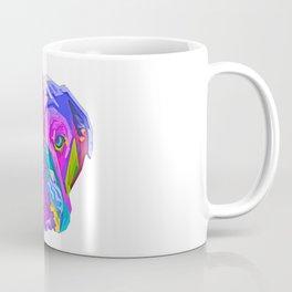 colorful english bulldog pop art style illustration Pet Dog Coffee Mug