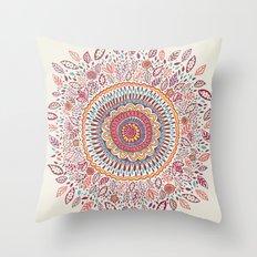 Sunflower Mandala Throw Pillow