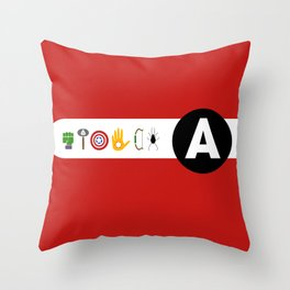 avengers assemble Throw Pillow