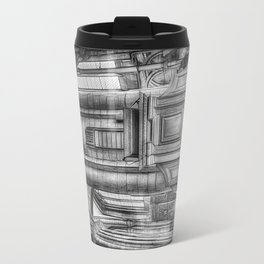 Pulpit in Black and White Travel Mug