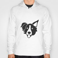 border collie Hoodies featuring Border Collie by anabelledubois