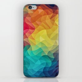 Abstract Color Wave Flash iPhone Skin